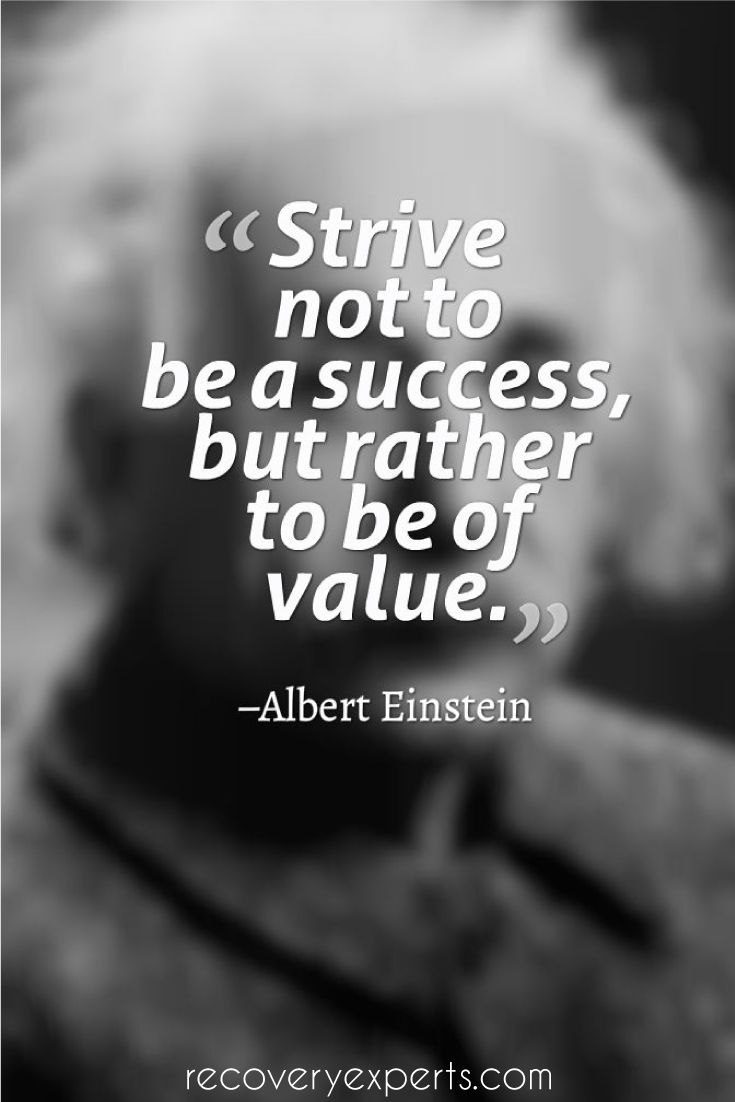 Motivational Quote Strive Not To Be A Success But Rather To Be Of