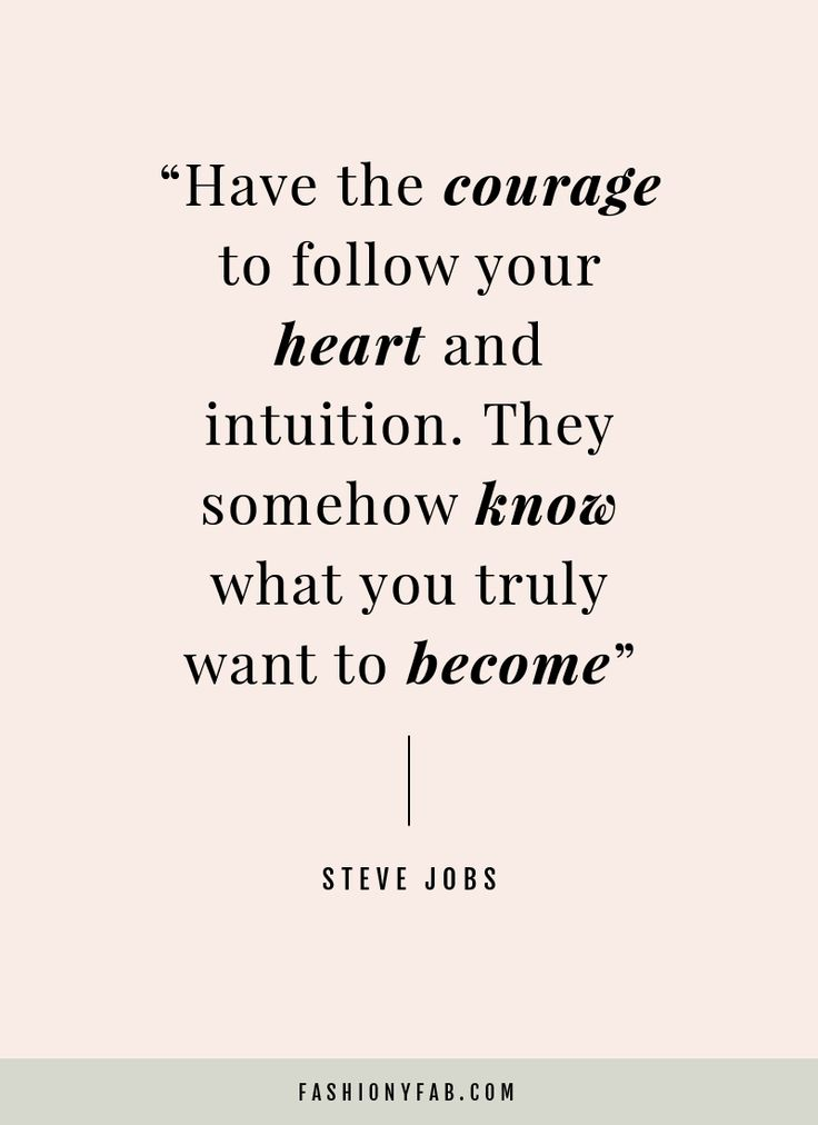 Follow Your Heart And Intuition Quote Inspirational Quote