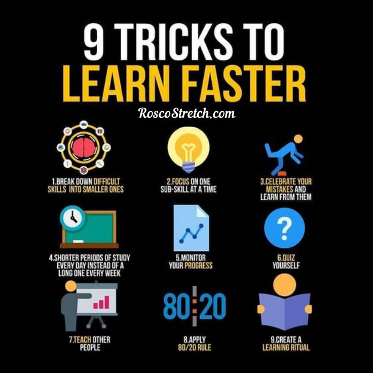 Nine Tricks To Learn Faster! Visit RoscoStretch com For More