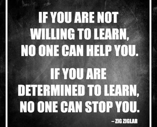 Zig Ziglar- Determined To Learn Poster at AllPosters.com